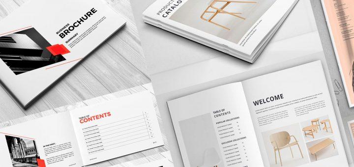 folletos modernos nuevos