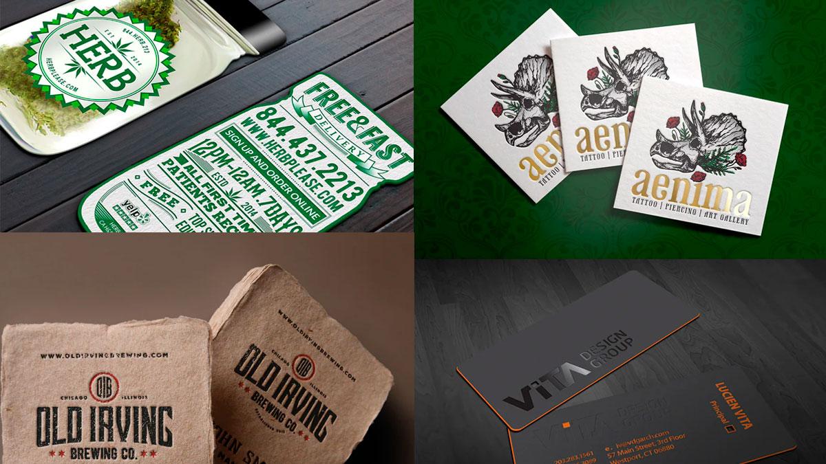 tarjetas de presentación en 2020