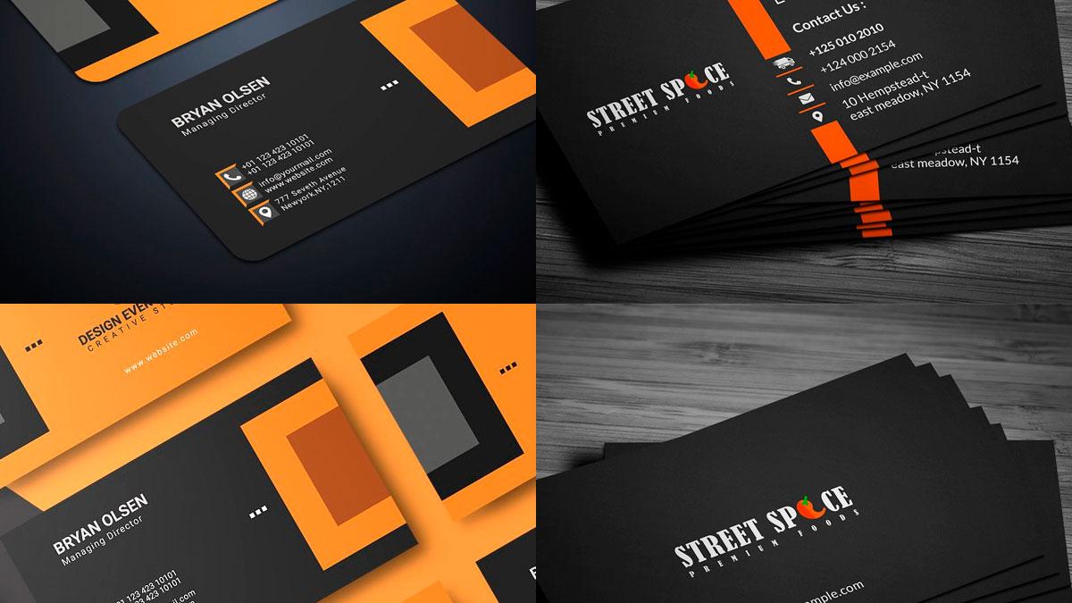 tarjetas de visita, presentación 2020