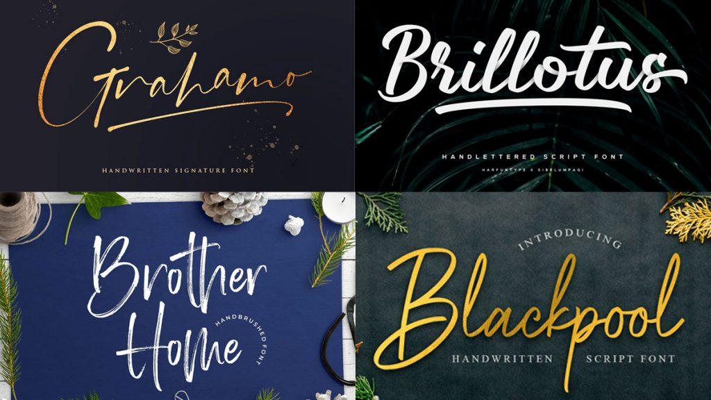 tipografías manuscritas 2020: Tendencias de diseño web