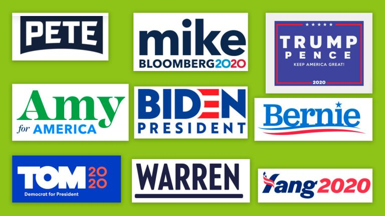 logos candidatos a eeuu 2020