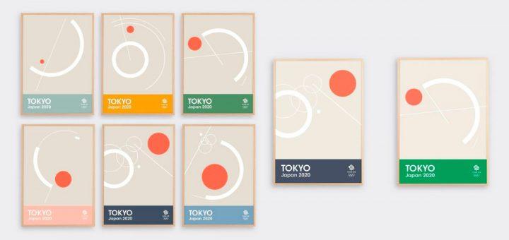 carteles posters de las olimpiadas de Tokio 2020