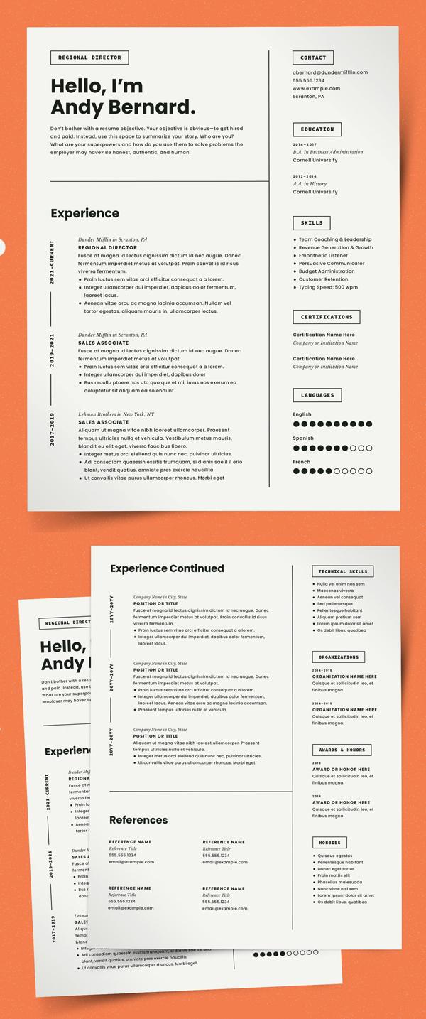 CV de plantilla de currículum moderno
