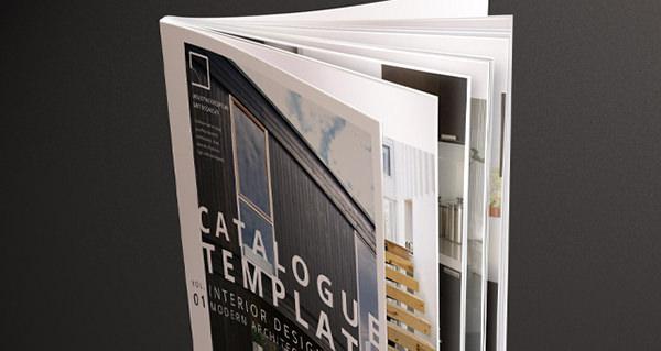 Plantilla de catálogo de arquitectura moderna 001 diseño de interiores