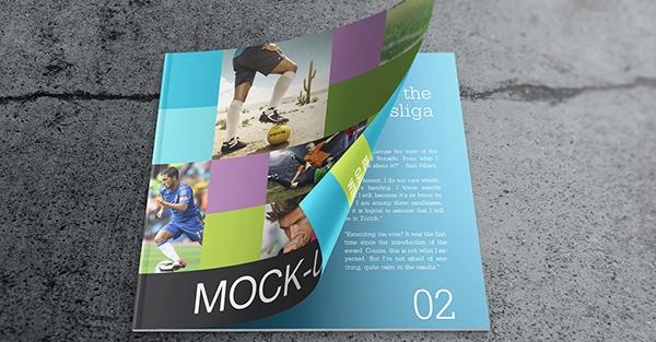 maqueta de catálogo