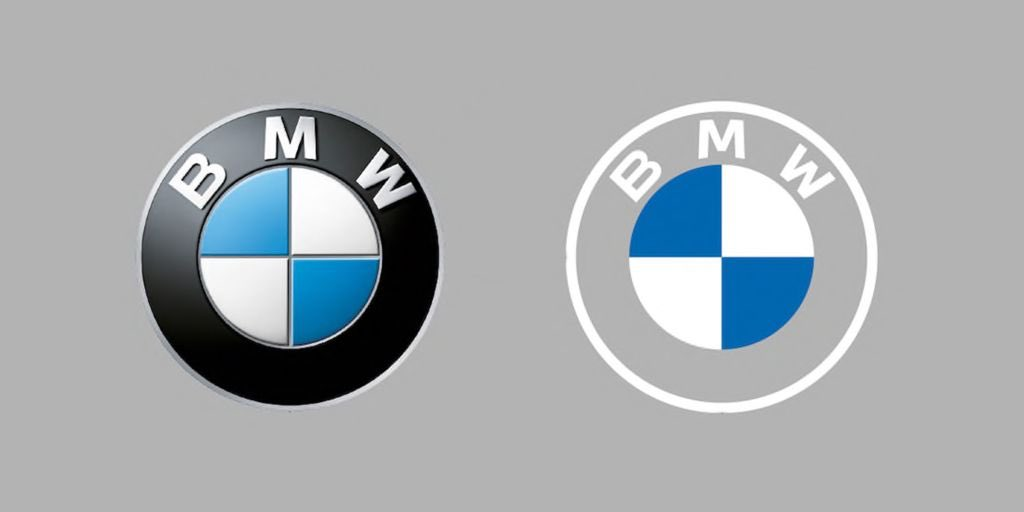 BMW nuevo logo minimalista