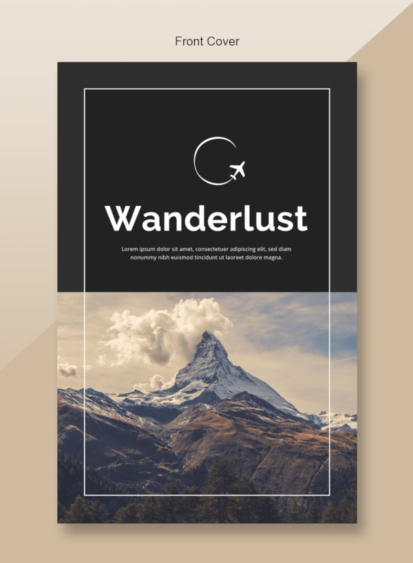 Plantillas de catálogos , plantilla de catálogo de viaje optimizado
