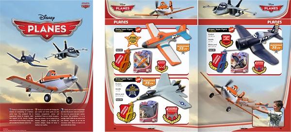 Compilación de diseños de catálogos de juguetes y cometas.