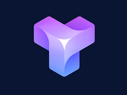 Logo Design Trends 2020 - Ejemplo de logotipos 3D e isométricos 1