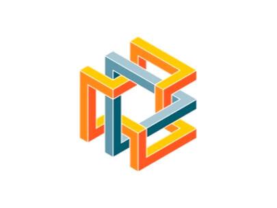 Logo Design Trends 2020 - Ejemplo de logotipos 3D e isométricos 2