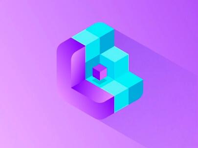 Logo Design Trends 2020 - Ejemplo de logotipos 3D e isométricos 3