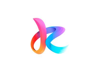 Tendencias de diseño de logotipos 2020 - Logotipos coloridos de degradado ejemplo 3