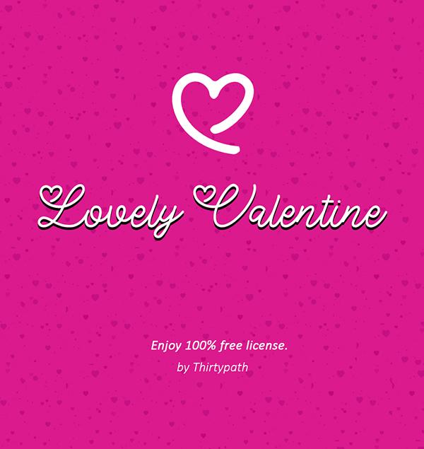 Fuentes de Firma:  Lovely Valentine Free