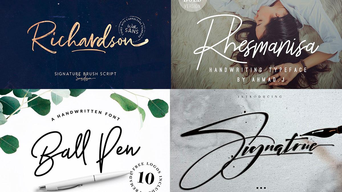 Fuentes de firma para diseñadores
