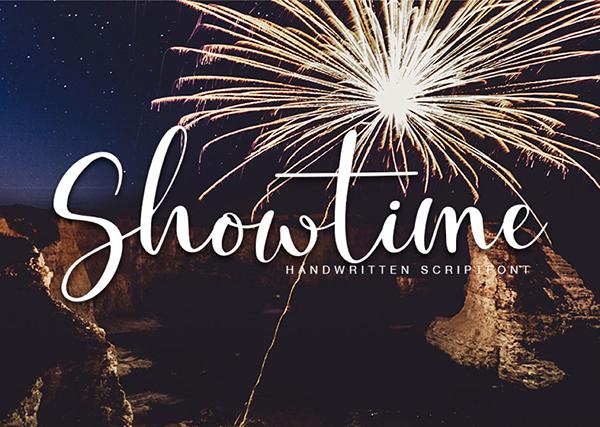 Fuente gratuita Showtime Handmade Calligraphy