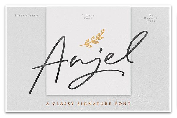Fuentes tipo firma:  Anjel Classy Signature