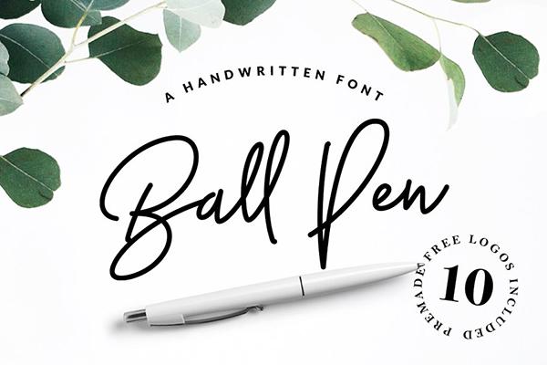 Fuente manuscrita Ball Pen