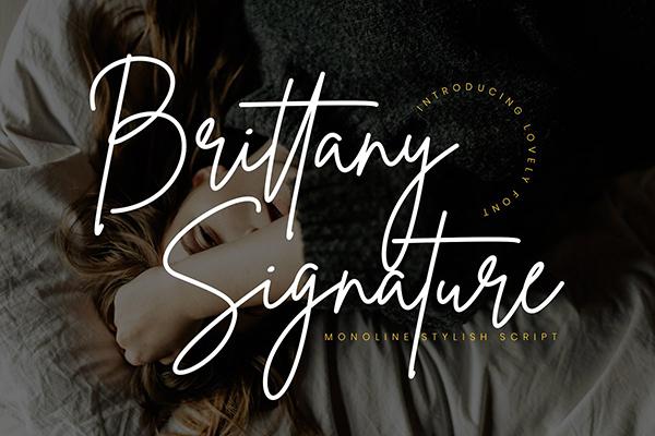 Fuentes tipo firma: Escritura de firma de Bretaña