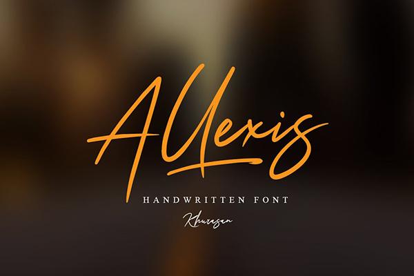 Fuentes tipo firma: Allexis Signature Script