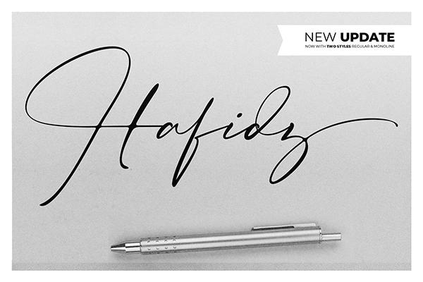 Fuentes tipo firma:  Hafidz Luxury Signature