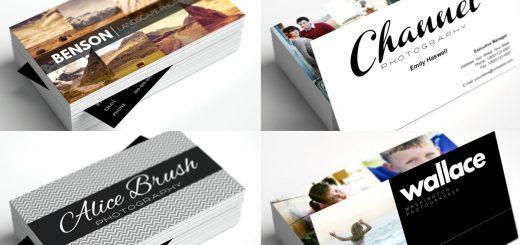 Tarjetas de presentación para fotógrafos gratis
