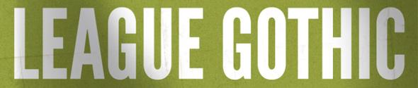 20 hermosas fuentes para titulares grandes y efectivos - League Gothic