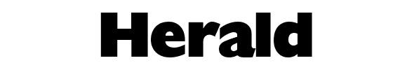 20 hermosas fuentes para titulares grandes y efectivos - Herald