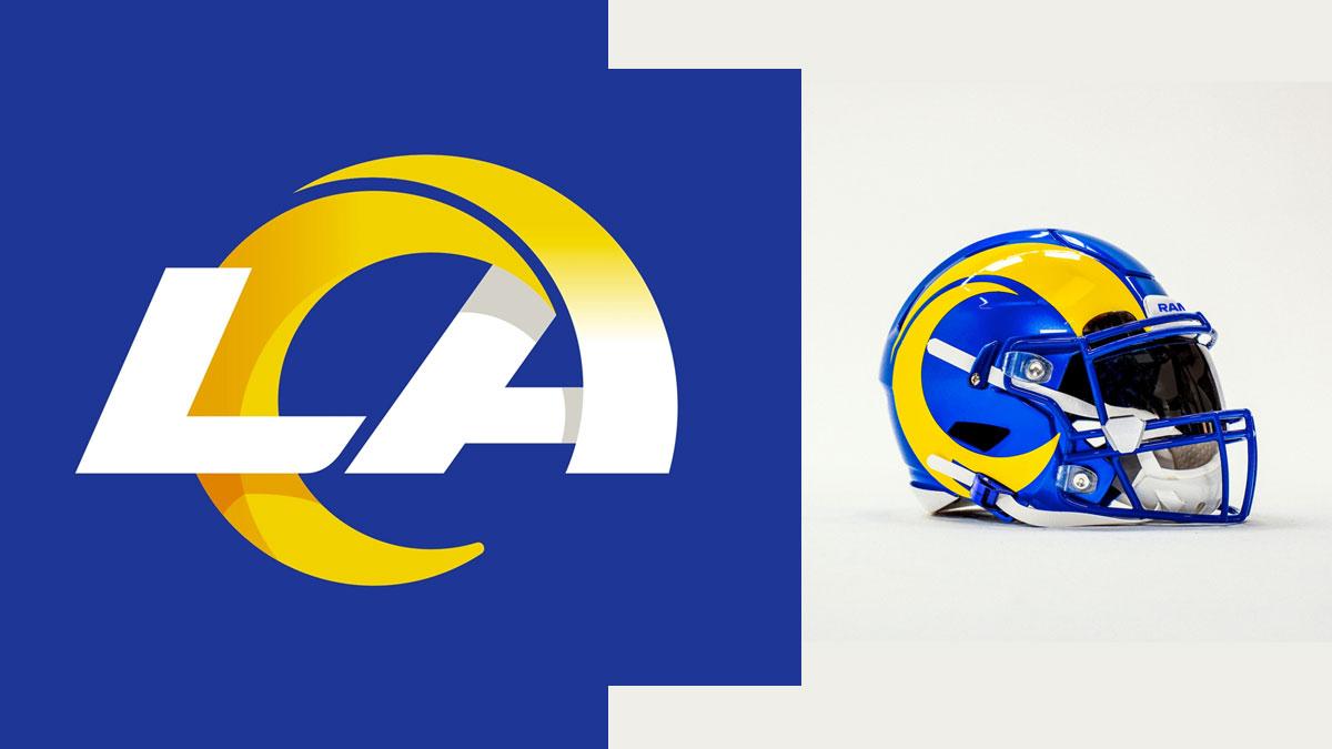 El Nuevo logotipo de los RAMS de los Ángeles