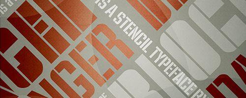 Fuentes frescas y modernas pra tus diseños: Fuente Danger Free