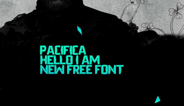 Fuentes frescas y modernas pra tus diseños: Fuente Pacifica Free