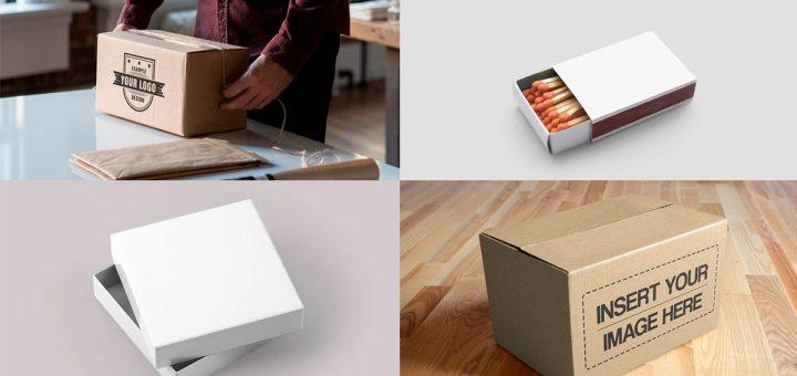 maquetas de cajas de cartón