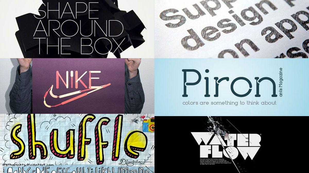 Tipografías frescas