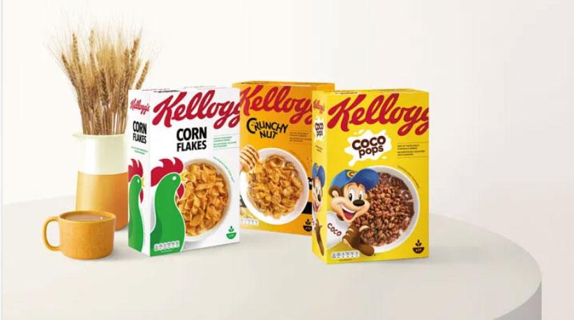 Rediseño de cajas o empaque cereal de Kellogg's