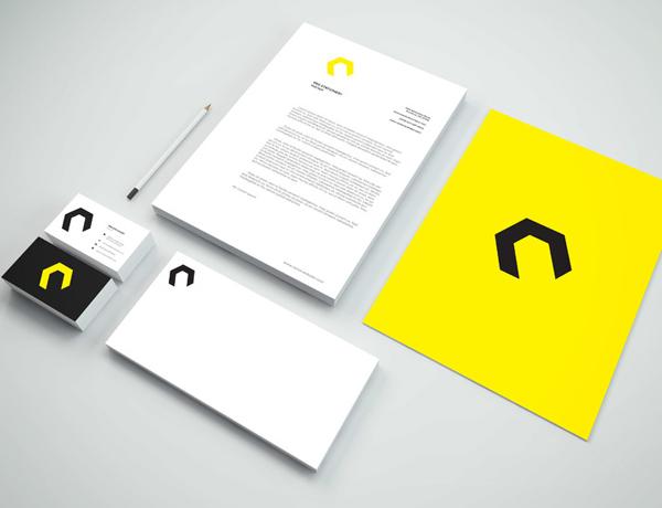 Maqueta PSD de papelería de marca gratis