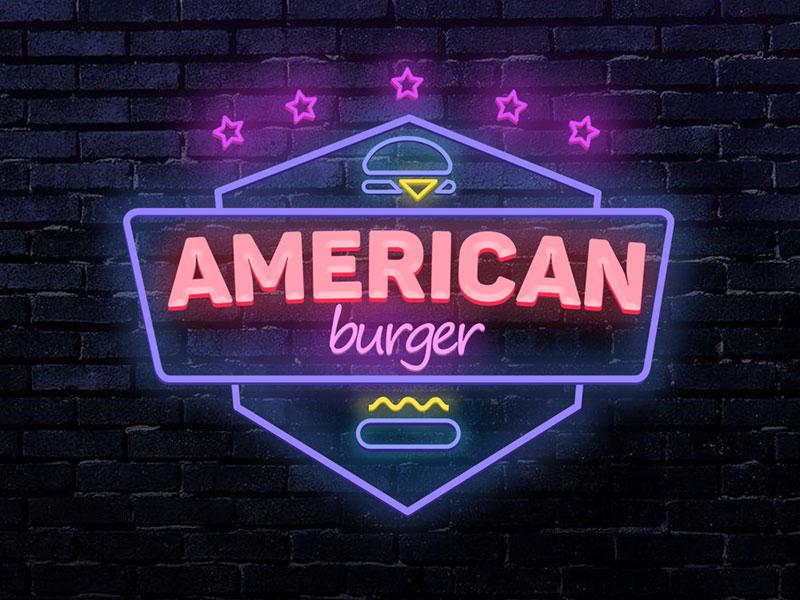 Logotipo de hamburguesa americana