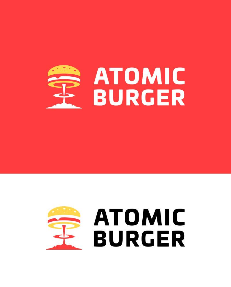 Ideas Logotipos de Hamburguesas: Logotipo de Atomic Burger