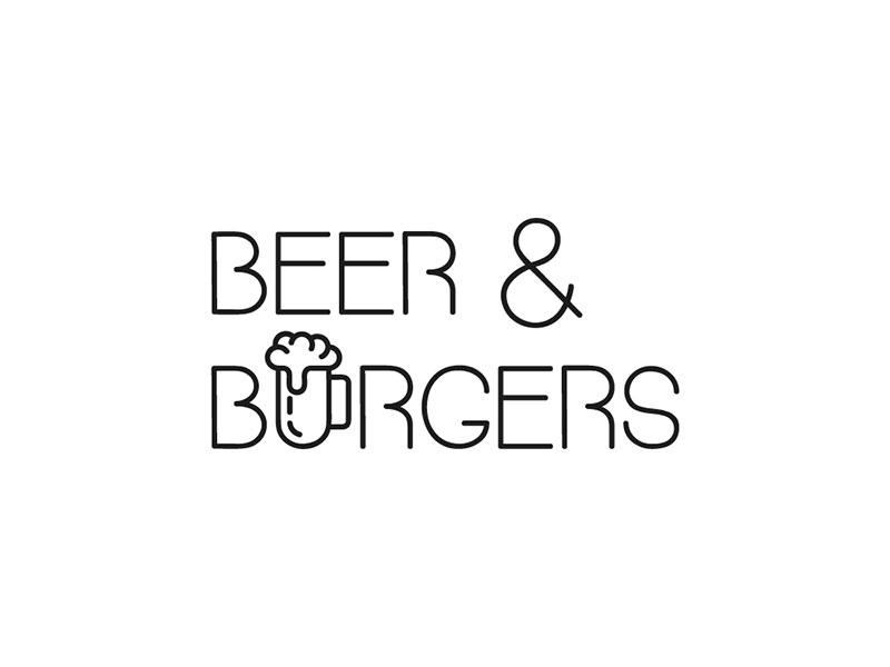 Ideas Logotipos de Hamburguesas: Logotipo de cerveza y hamburguesas