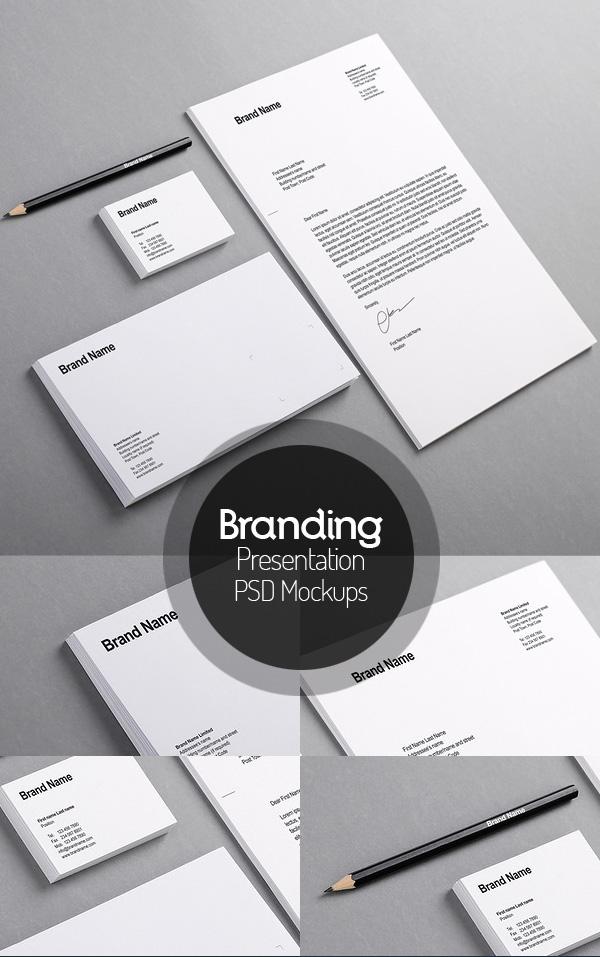 Maqueta de identidad de marca