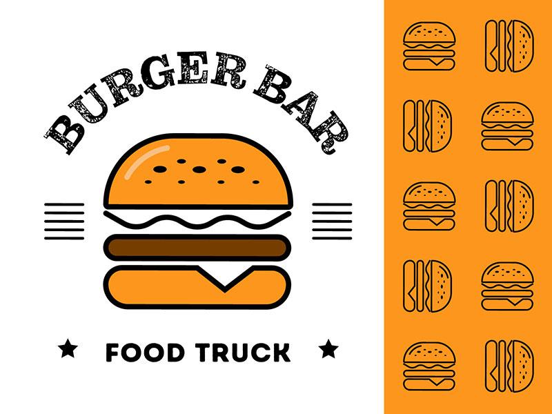 Ideas Logotipos de Hamburguesas: Logotipo de Burger Bar
