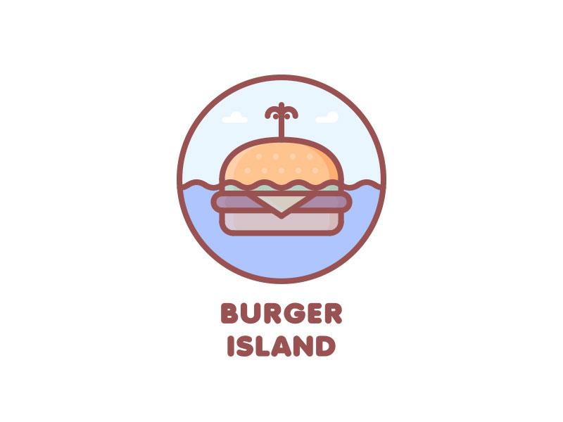Logotipo de Burger Island