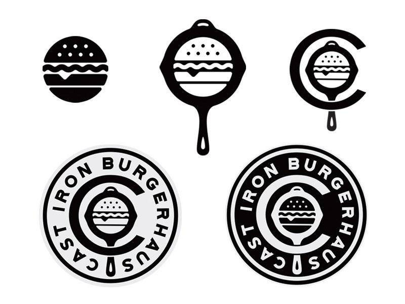 Logotipo de Burgerhaus de hierro fundido