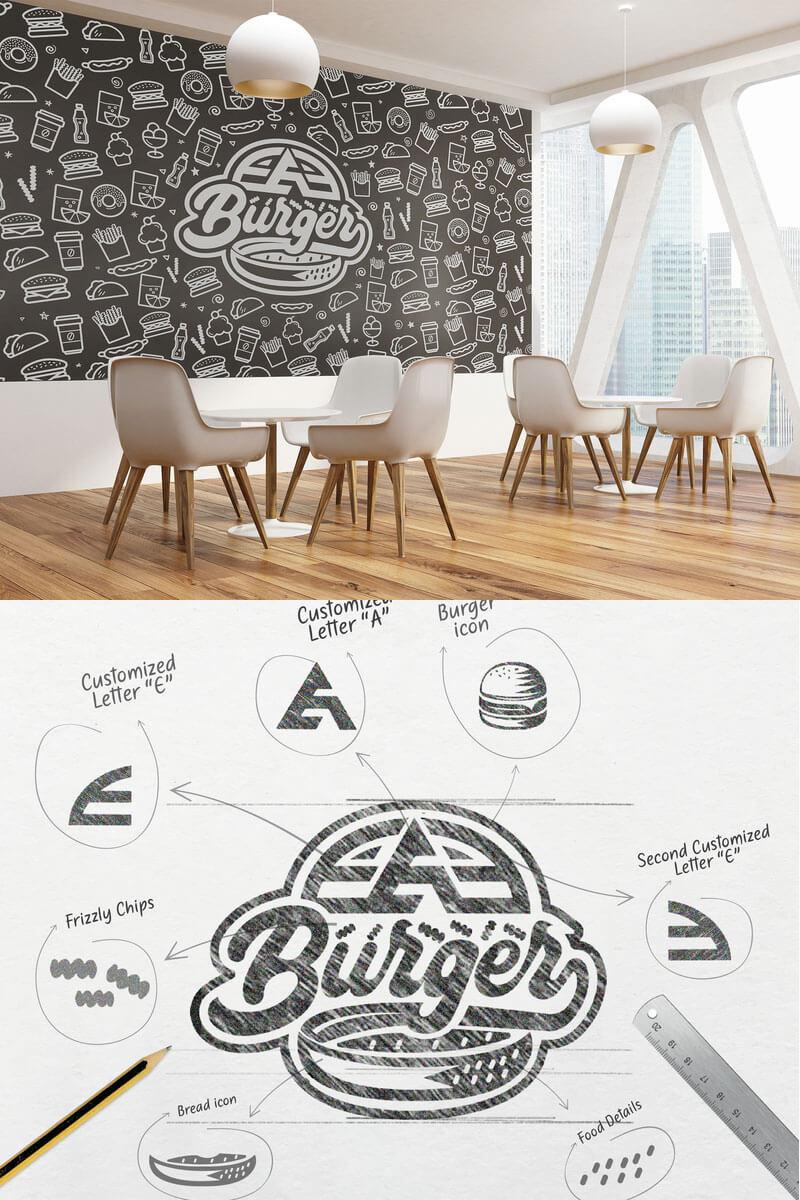 Ideas Logotipos de Hamburguesas: Logotipo de EAE Burger
