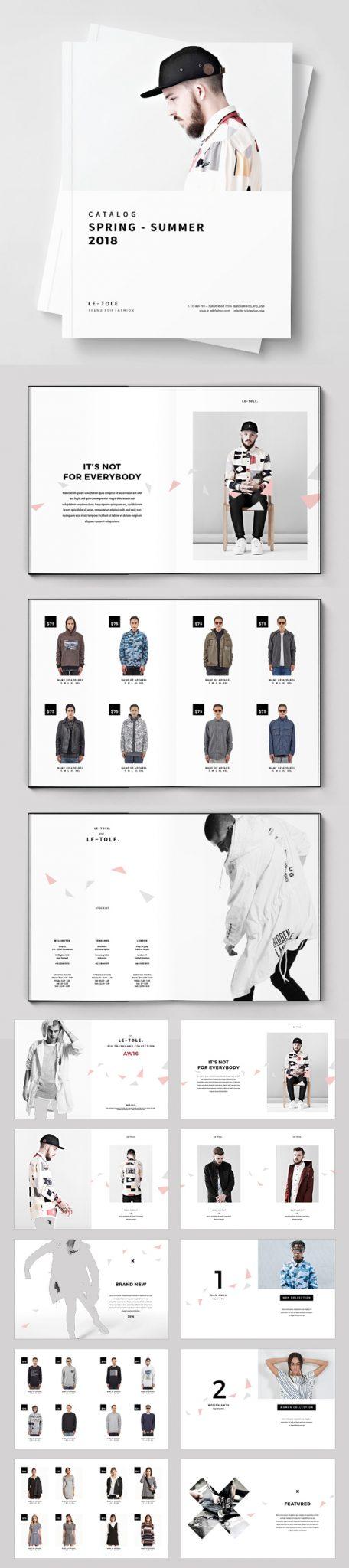 Plantilla de folleto de moda