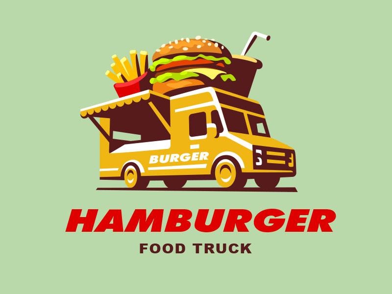 Ideas Logotipos de Hamburguesas: Camión de comida - Burger Logo