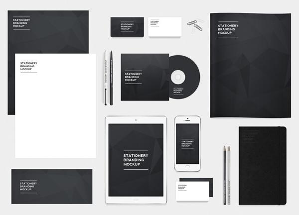 Paquete de maquetas de marca de papelería gratis