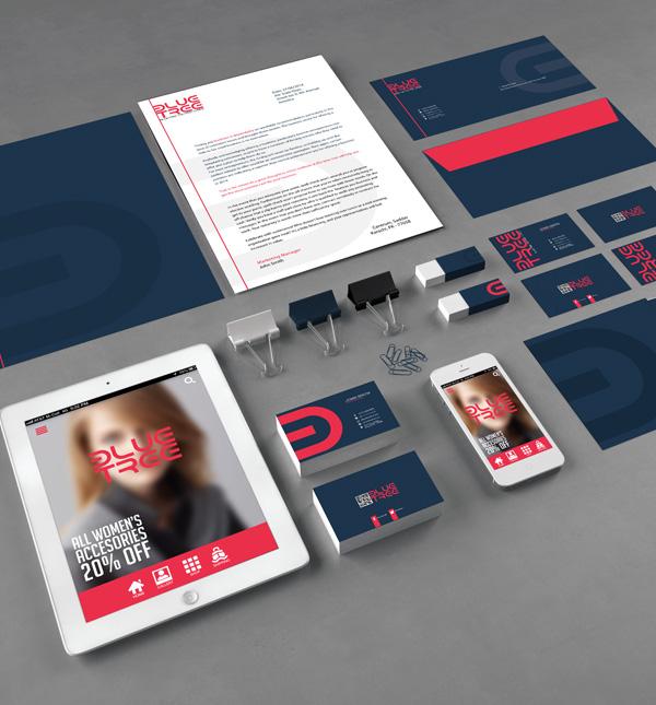 Maqueta gratuita de plantilla PSD de marca corporativa