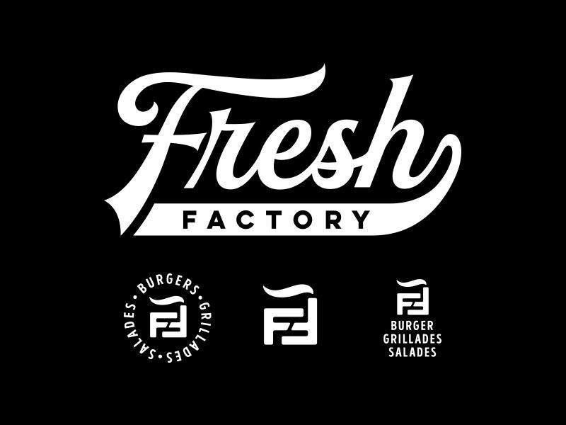Ideas Logotipos de Hamburguesas: Logotipo de Fresh Factory Burger