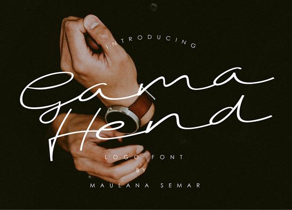 Fuente gratuita Gama Hend Logo