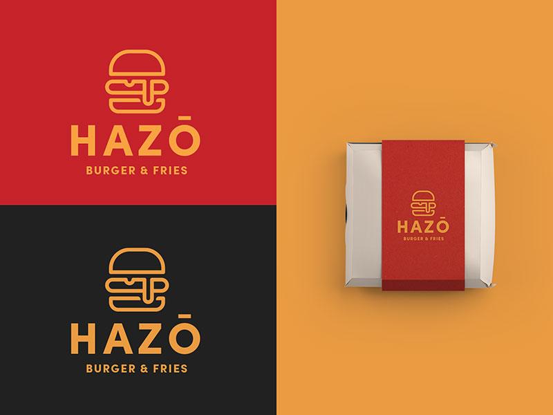Ideas Logotipos de Hamburguesas: Logotipo de Hazo Burger & Fries