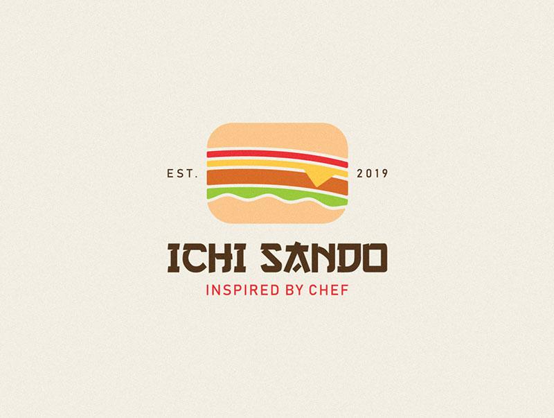 Ideas Logotipos de Hamburguesas: Diseño de logotipo Ichi Sando